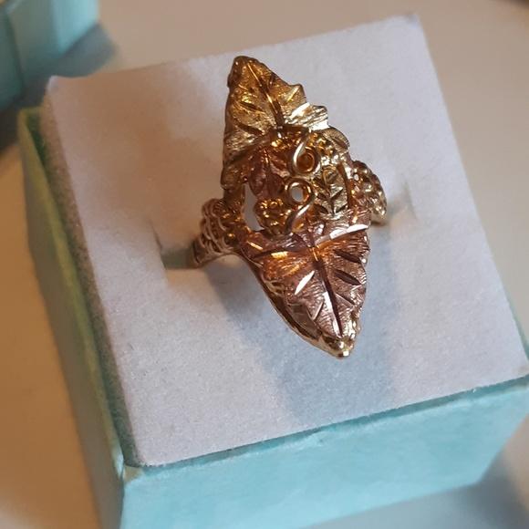 447d89443 Black Hills Gold Jewelry | Vtg Black Hills Multitone 10k Gold Leaf ...